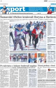 Článek o Šumavské 30 v Deníku 28.1.2013